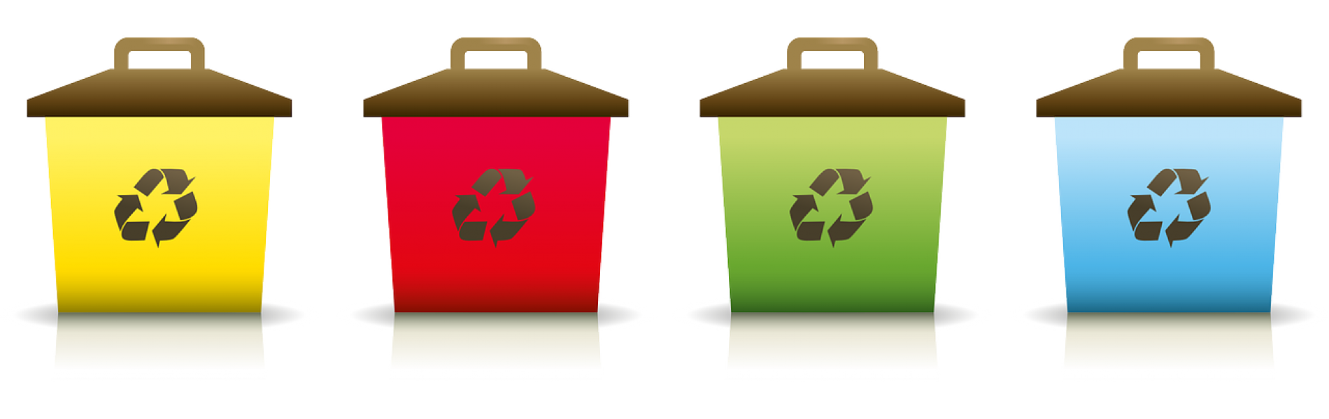 Trash cans for recycling