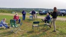 outdoor MOM meeting at Manchester landfill