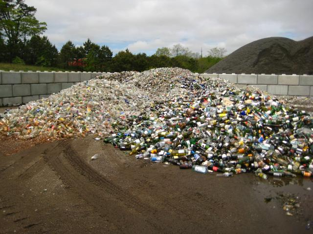 Pile of Glass Bottles and Containers